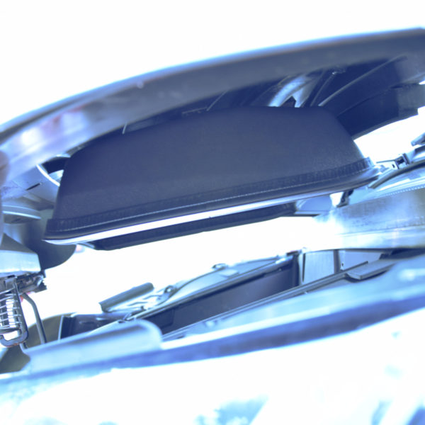 Frunk sealing installed on the front hood of a BMW i3
